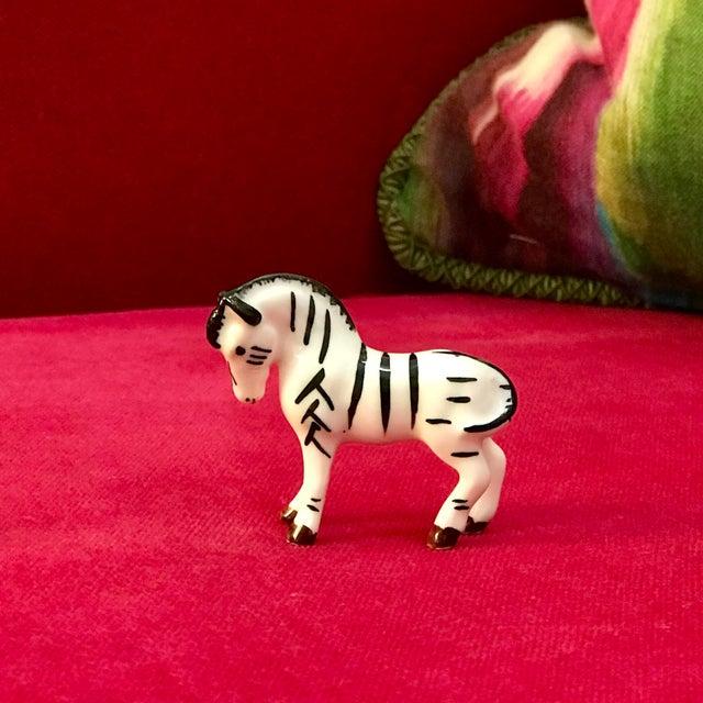 Porcelain Bone China Zebra Animal Miniature Figurine