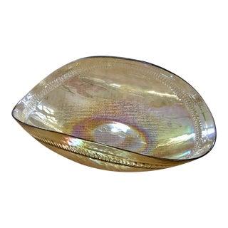 Vintage Yalos Casa Murano Iridescent Glass Bowl For Sale