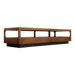 Vintage Brown Saltman Coffee Table, 1970s