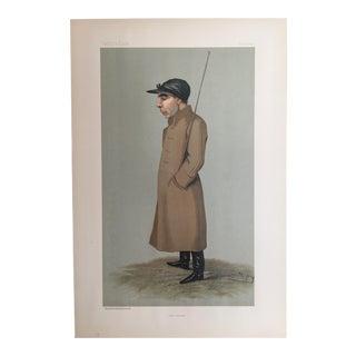1896 Original Vanity Fair Jockey / Horse Racing Print - Sam Loates For Sale