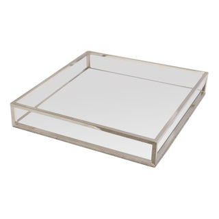 Large White & Chrome Tray