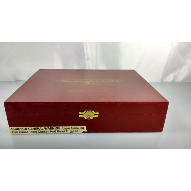 Red Red & Gold Sancho Panza Wood Cigar Boxes - Pair For Sale - Image 8 of 11