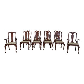 Henkel Harris Cherry Model 105 Dining Room Chairs - Set of 10 For Sale