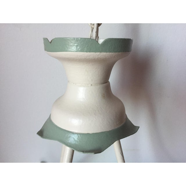 Vintage Italian Tole Painted Chandelier For Sale In New York - Image 6 of 10