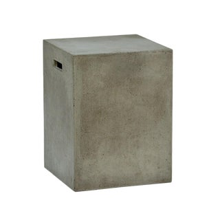 Concrete Outdoor Stool / Side Table For Sale
