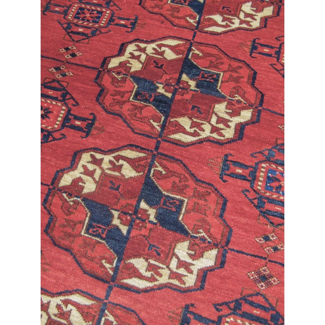 Late 19th Century Tekke Turkmen Main Carpet For Sale - Image 5 of 5