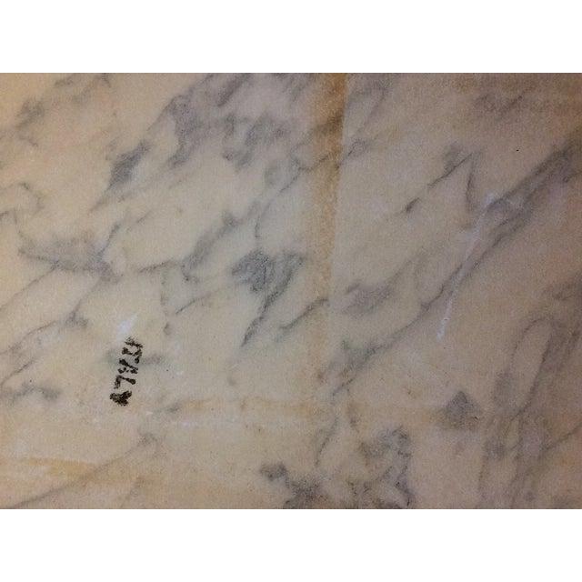 Fuggiti Studios Italian Carrara Marble & Gold Gilt Coffee Table - Image 11 of 11