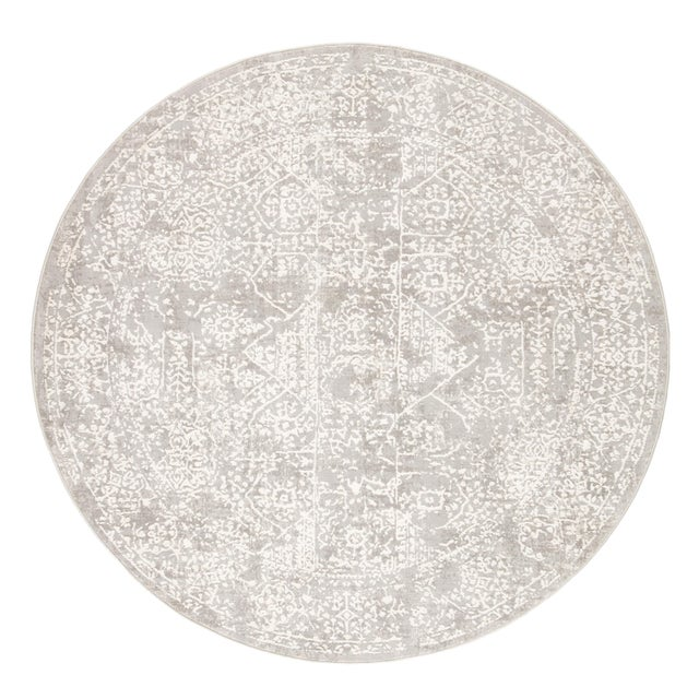 Jaipur Living Lianna Abstract Gray White Round Area Rug 6'X6' For Sale - Image 10 of 10