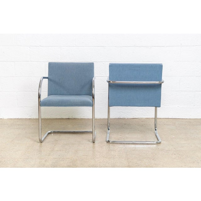Gordon International Mies Van Der Rohe Blue Brno Dining Chairs For Sale - Image 4 of 11
