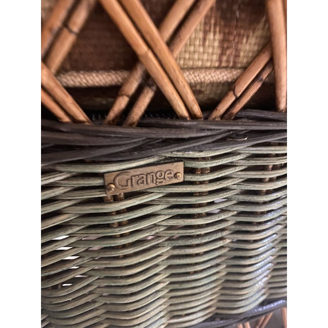 Vintage French Grange Wicker Sofa and Coffee Table For Sale - Image 13 of 13