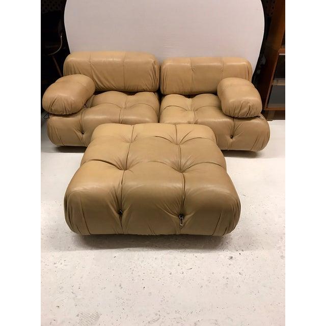 Mid-Century Modern B&b Italia Camaleonda Mario Bellini All Leather Modular Sectional Sofa 3 Pieces For Sale - Image 3 of 11