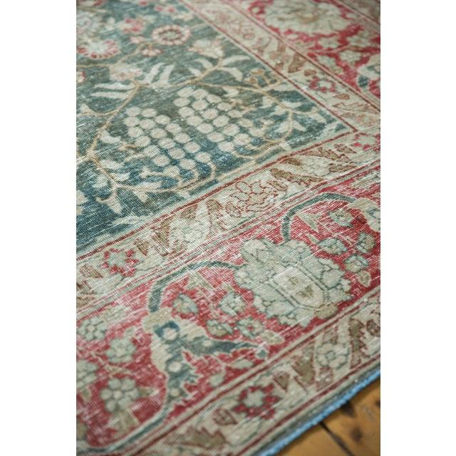 "Old New House Vintage Distressed Tabriz Carpet - 8'1"" X 11'4"" For Sale - Image 4 of 13"