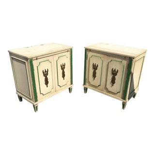 1960s Vintage French Regency Nightstands-a Pair For Sale