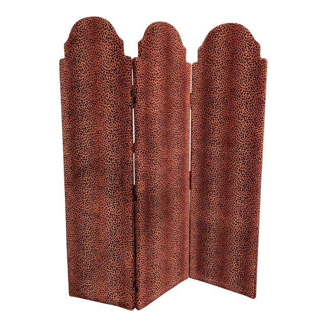 Animal Print Room Divider Screen For Sale