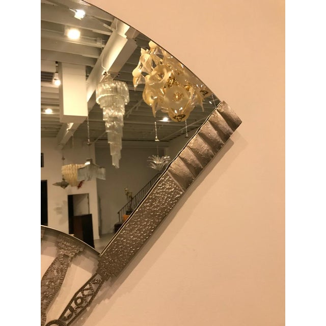 Sophisticated French Art Deco Fan Wall Mirror   DECASO