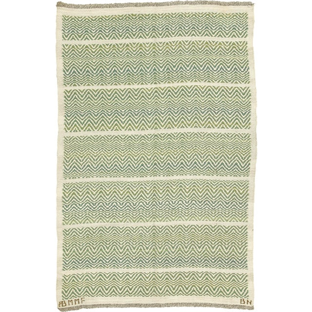 Swedish Flat Weave Rug by AB Märta Måås-Fjetterström- 4′2″ × 6′1″ For Sale In New York - Image 6 of 6