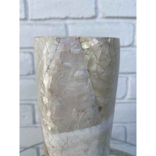 1990s Mother of Pearl Vase For Sale - Image 5 of 9