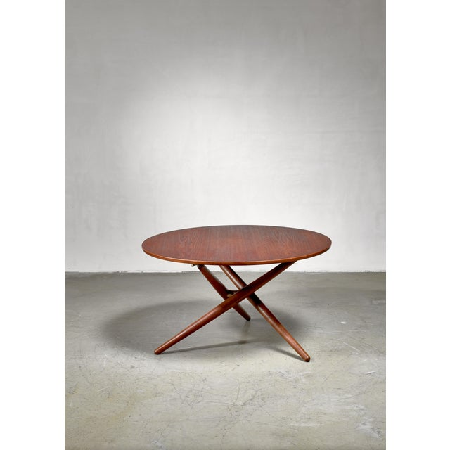 Mid-Century Modern Jurg Bally Height-Adjustable Ess-Tee Table for Wohnhilfe, Switzerland For Sale - Image 3 of 6