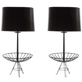 Pair of Stunning Lacquered Copper Lamps After Ferris & Shacknove