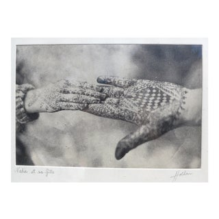 "Martha Holden Contemporary Etching in White ""Love"" For Sale"