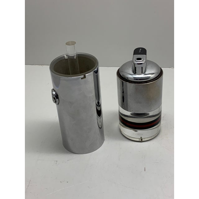 1970s 1970s Gucci Lucite and Chrome Table Lighter For Sale - Image 5 of 8