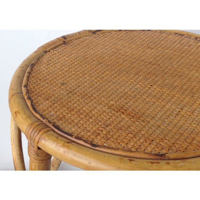 English Bamboo Round Occasional Table - Image 7 of 11
