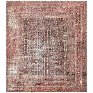 Antique Shabby Chic Persian Khorassan Carpet - 16′7″ × 18′7″ For Sale