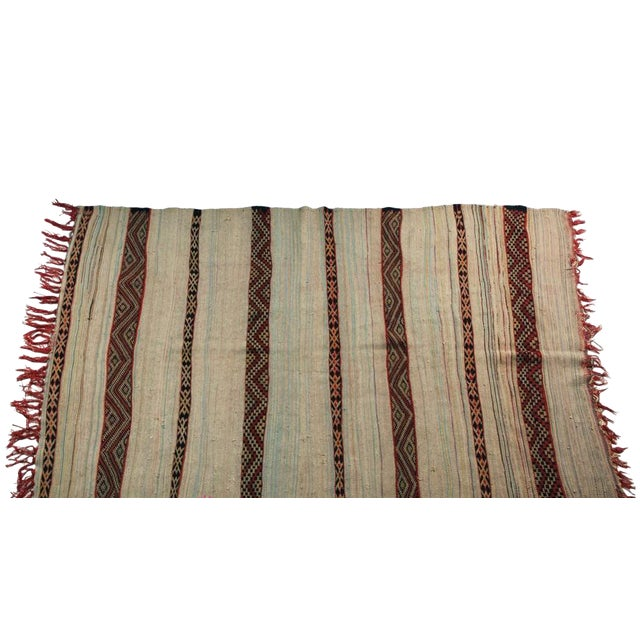 "Vintage Hand Woven Azilal Carpet - 7' X 4'7"" - Image 1 of 4"