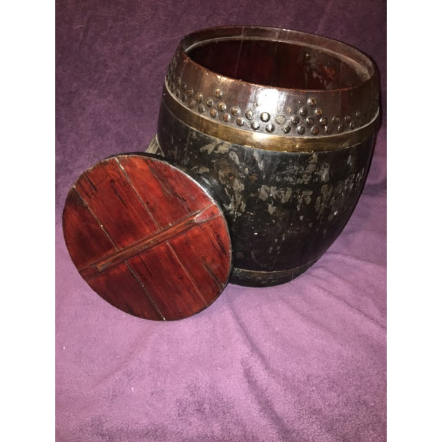 Antique Chinese Rice Barrel For Sale In Los Angeles - Image 6 of 7