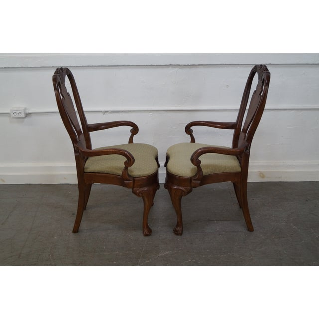 Walnut Georgian Queen Anne Dining Chairs - 6 - Image 6 of 10