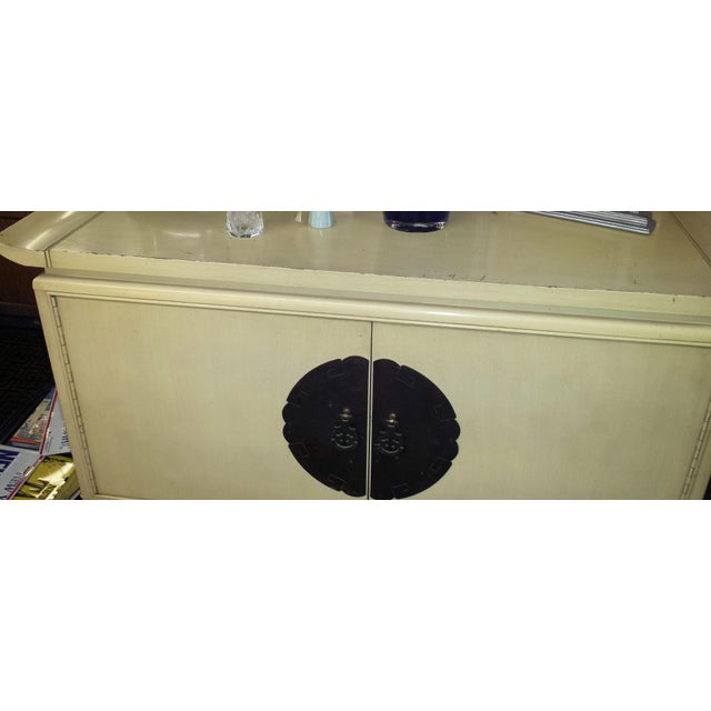 Chinoiserie 1960s Chinoiserie Kent Coffey Gentleman's Chest of Drawers For Sale - Image 3 of 7