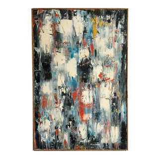 Abstract Vintage Marion Riseman (1928 -2010) Palette Knife Original Painting Circa 1977 For Sale