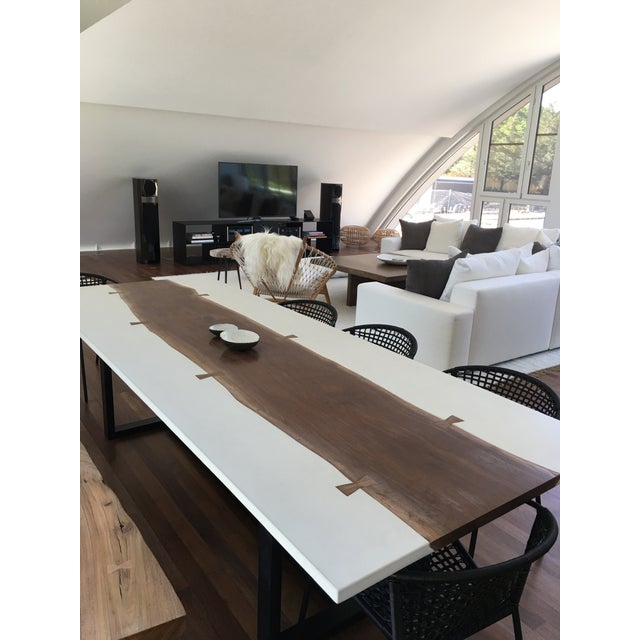 Organic Modern Live Edge Dining Table For Sale - Image 4 of 5