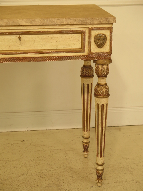 This Is A Vintage BAKER Historic Charleston Collection Marble Top Console  Table. The Piece Is