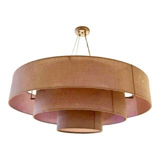 Ochre Cloud Chandelier in Rose For Sale