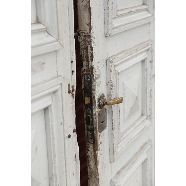 Art Deco Three Antique French Doors For Sale - Image 3 of 11 - Fine Three Antique French Doors DECASO