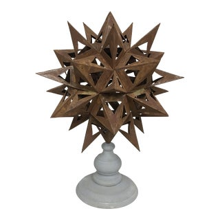 Rusted Multipoint Star on Stand