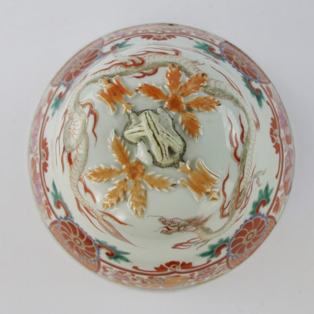 Antique Chinese Lidded Warming Dish - Image 4 of 9