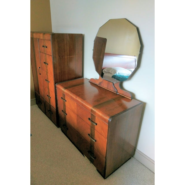 Vintage Mid-Century Dark Wood Dresser - Image 3 of 9
