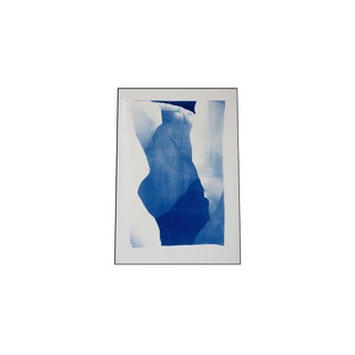 Layers of an Iceberg, Handmade Limited Edition Cyanotype Print For Sale