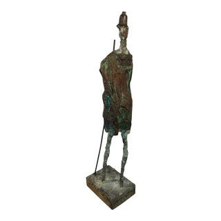 1960s Brutalist Sculpture of Don Quixotie in the Manner of Giacometti For Sale
