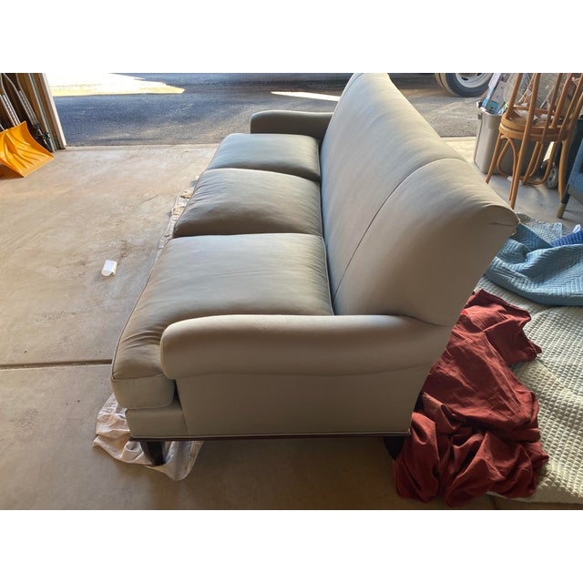 Baker Furniture Company Baker Contemporary Rolled Arm Sofa For Sale - Image 4 of 7