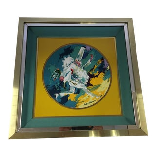 Leroy Neiman Limited Edition Royal Doulton Punchinello 1978 Framed Artwork Plate For Sale