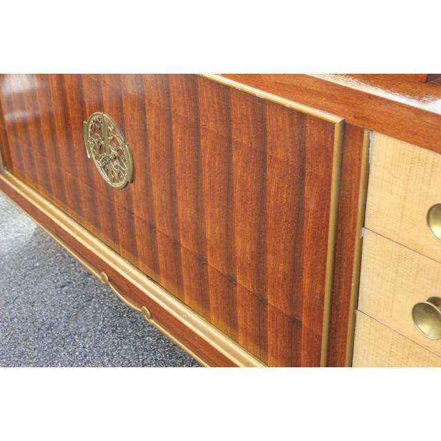 Bronze Spectacular French Art Deco Palisander And Sycamore Sideboard / Credenza Circa 1935s For Sale - Image 7 of 11
