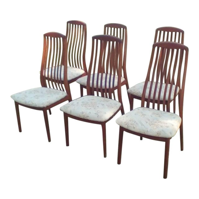 1960s Danish Modern Dyrlund Teak Dining Chairs - Set of 6 For Sale