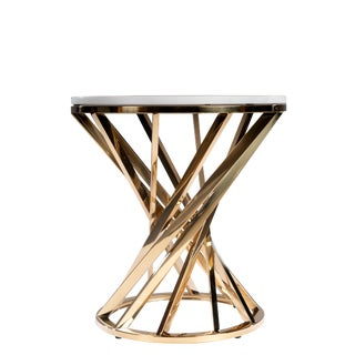 Iris Marble Top Side Table For Sale