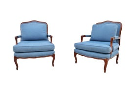 Image of Baby Blue Bergere Chairs