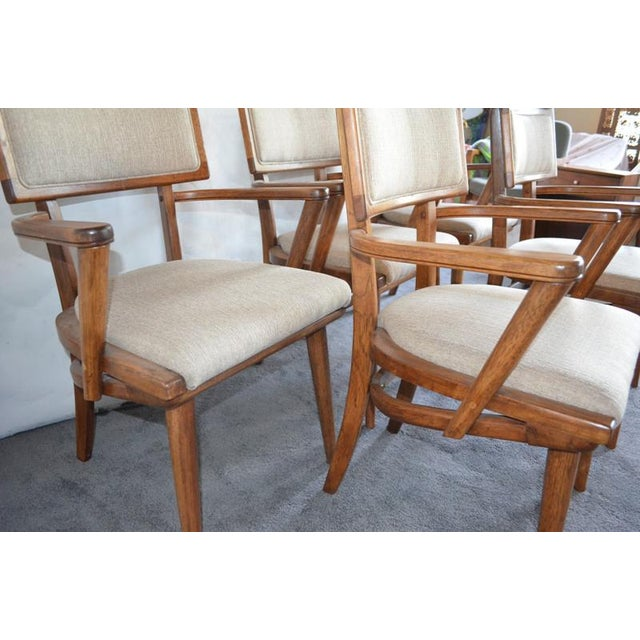 Brown Mid Century Ash Chairs - Set of 5 For Sale - Image 8 of 10