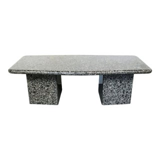 Mid-Century Granite Coffee Table For Sale