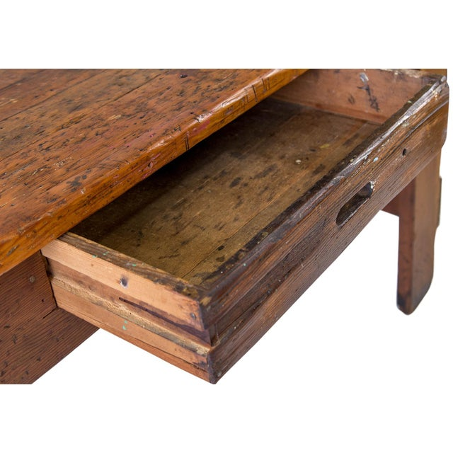 Brown Rustic Carpenter's Workbench Sideboard For Sale - Image 8 of 13